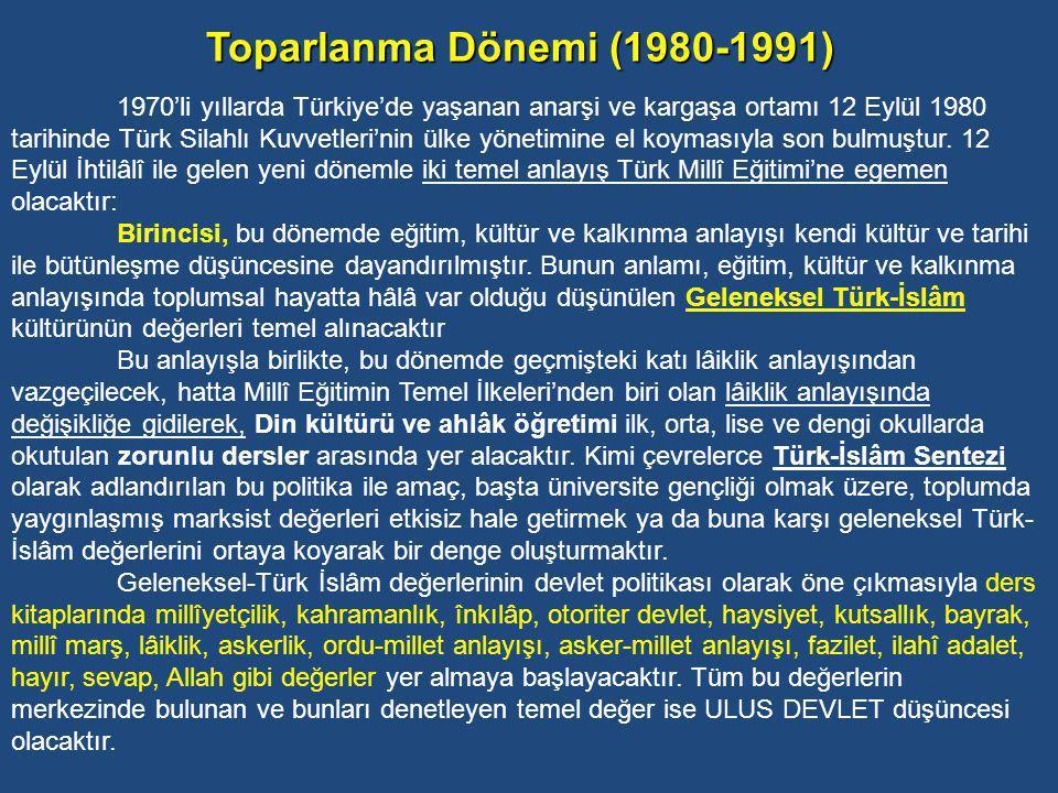 Toparlanma Dönemi (1980-1991)