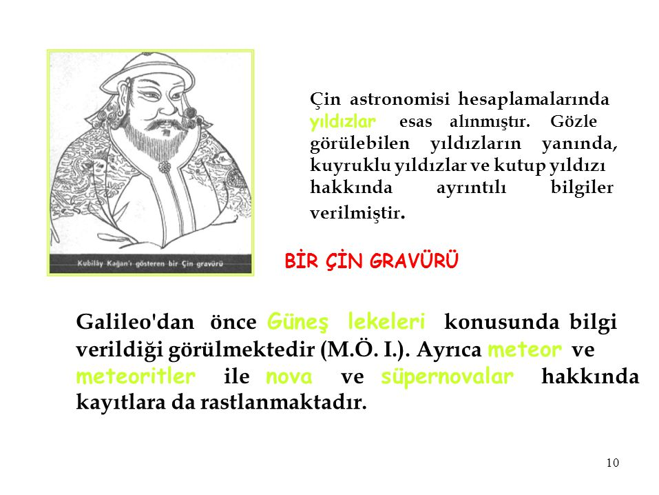 Galileo dan önce Güneş lekeleri konusunda bilgi