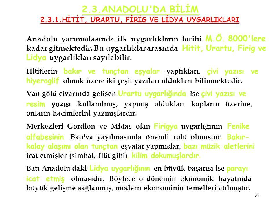 Anadolu yarımadasında ilk uygarlıkların