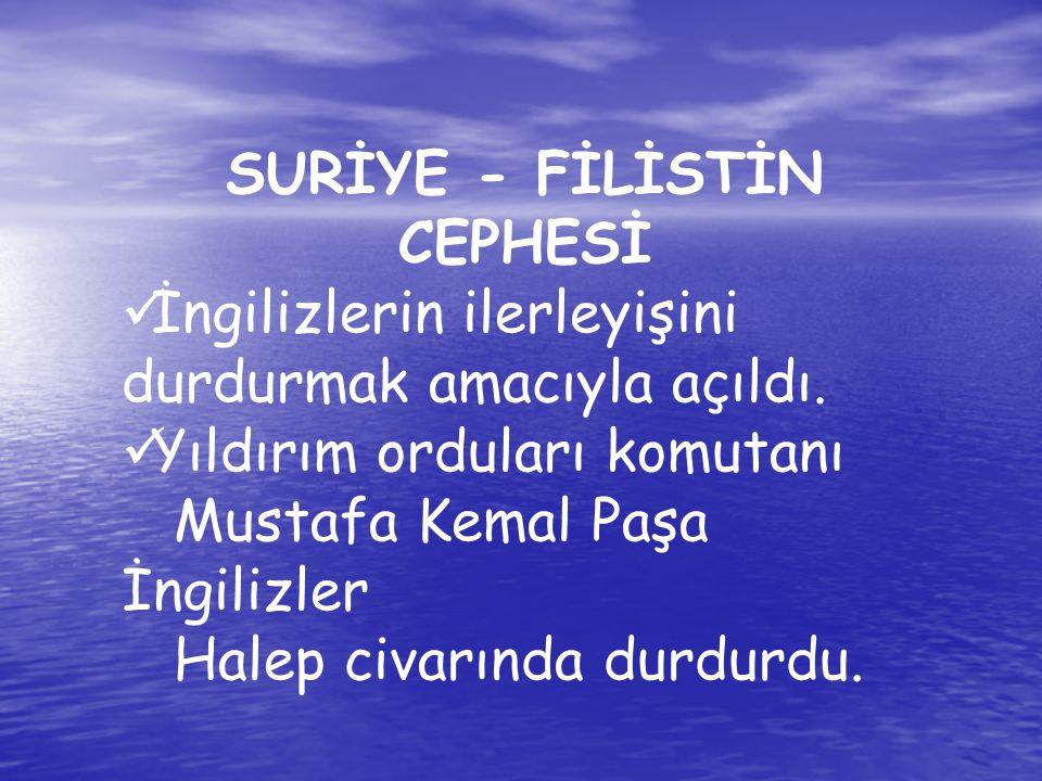 SURİYE - FİLİSTİN CEPHESİ