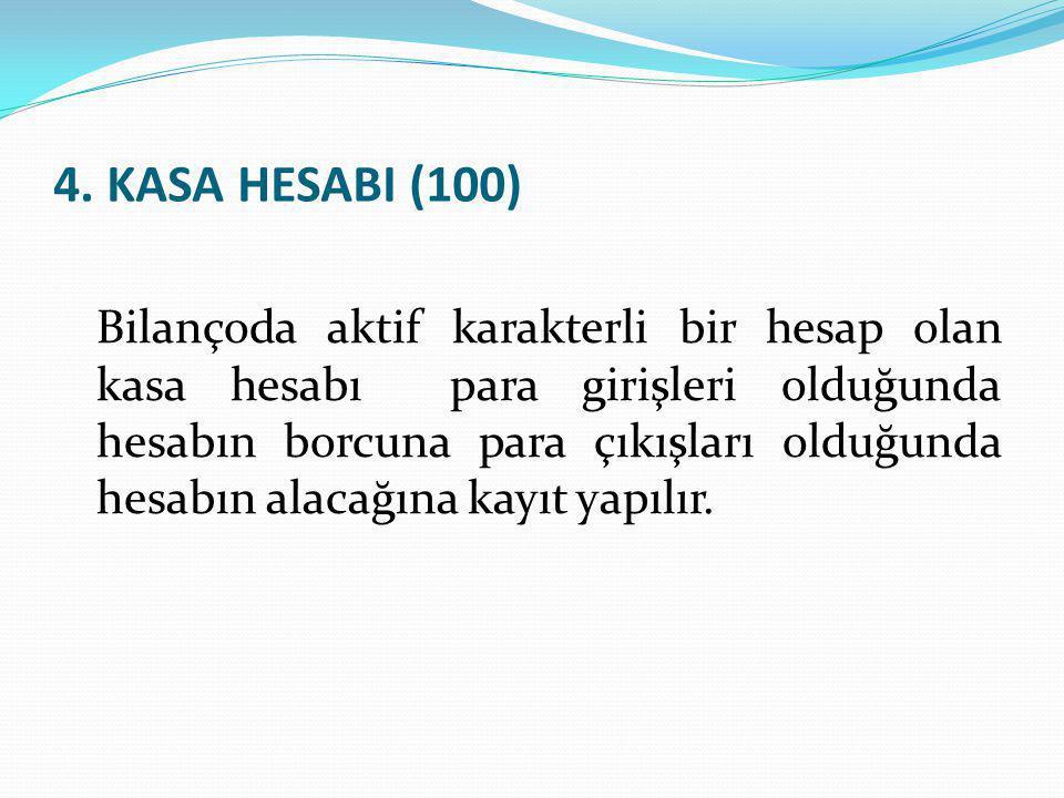 4. KASA HESABI (100)