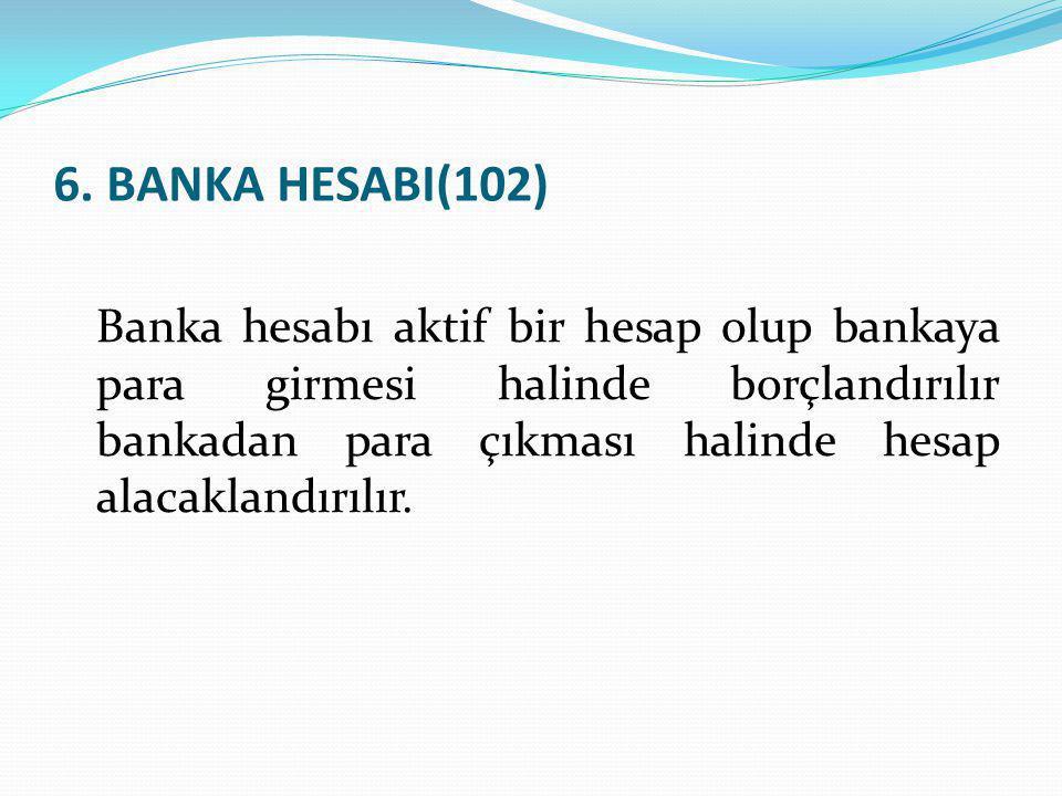 6. BANKA HESABI(102)
