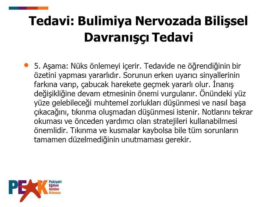 Tedavi: Bulimiya Nervozada Bilişsel Davranışçı Tedavi