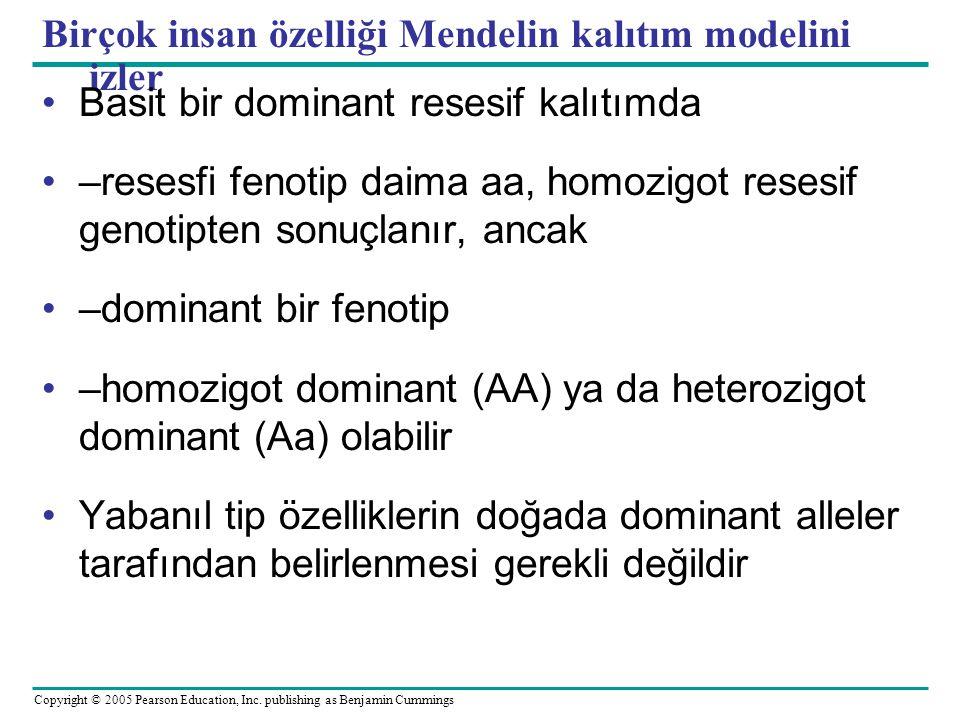 Birçok insan özelliği Mendelin kalıtım modelini izler