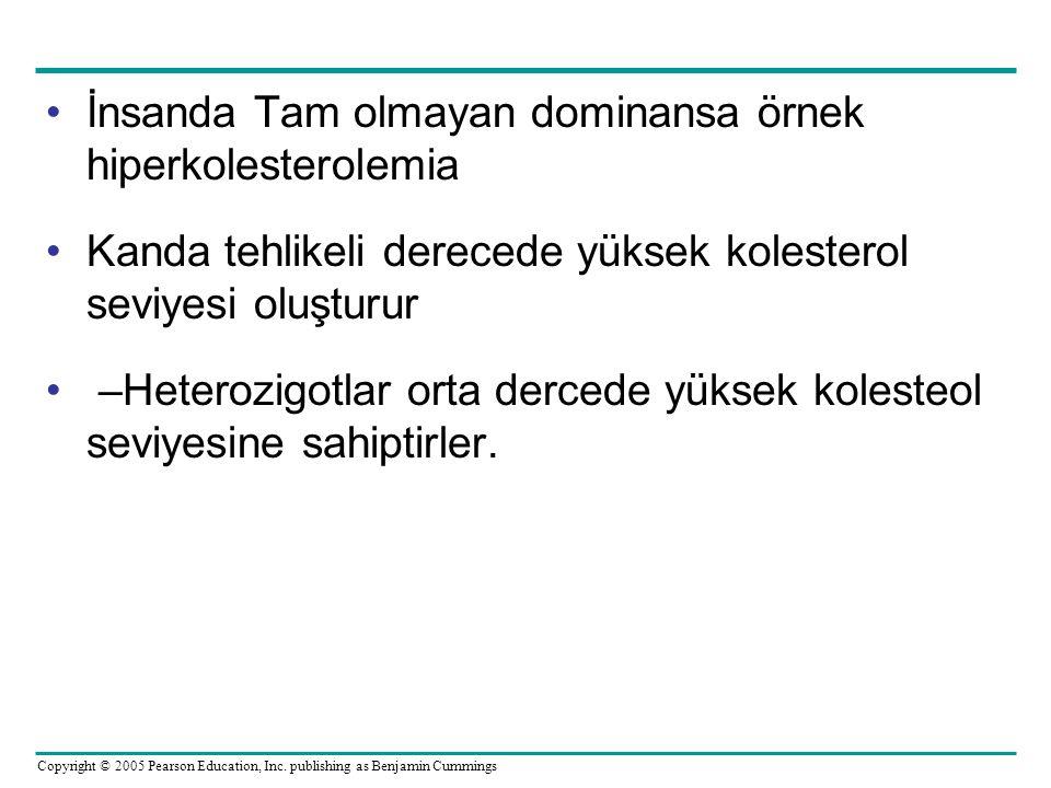 İnsanda Tam olmayan dominansa örnek hiperkolesterolemia