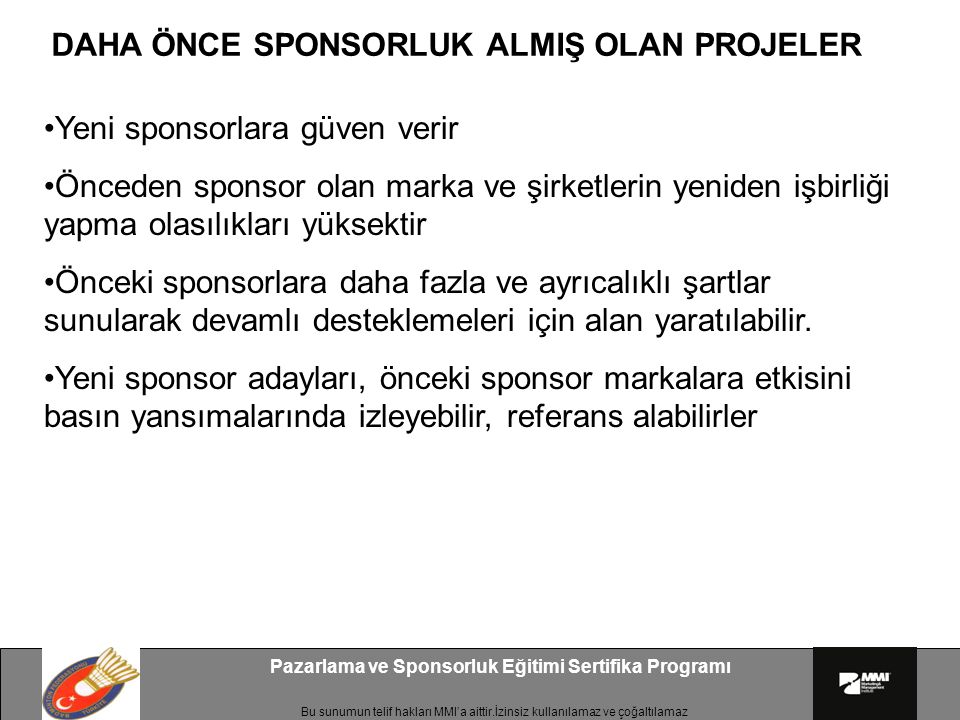 Pazarlama ve Sponsorluk Eğitimi Sertifika Programı