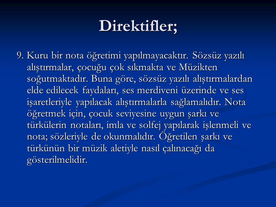 Direktifler;