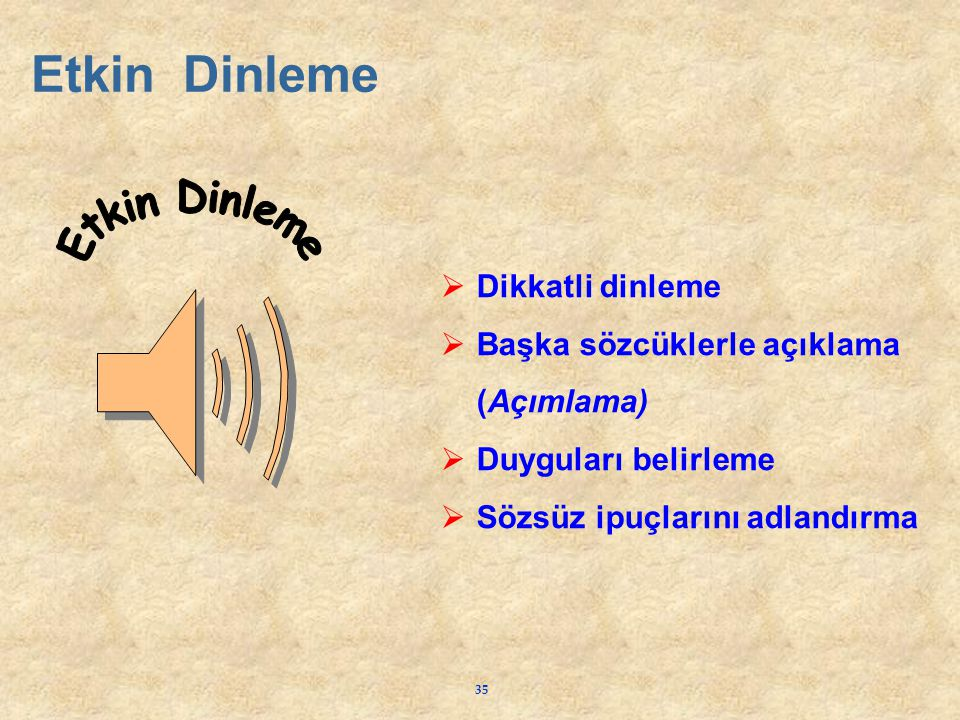 Etkin Dinleme Etkin Dinleme Dikkatli dinleme