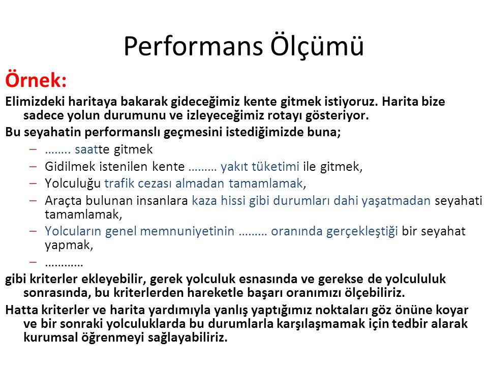 Performans Ölçümü Örnek: