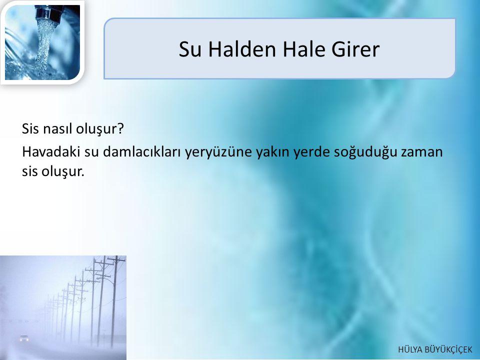 Su Halden Hale Girer Sis nasıl oluşur.