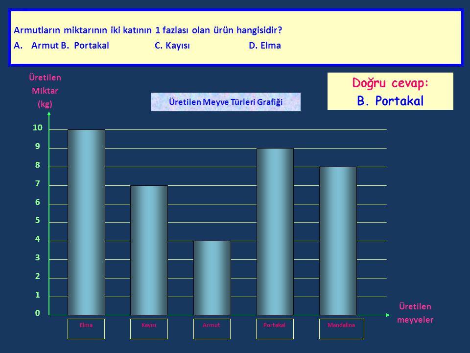 Grafiği dikkatlice inceleyerek soruları cevaplandırınız.