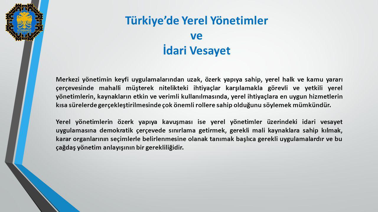 Türkiye'de Yerel Yönetimler