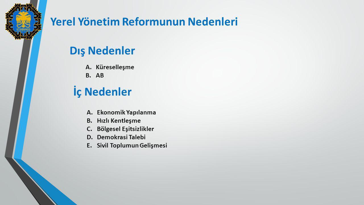 Yerel Yönetim Reformunun Nedenleri