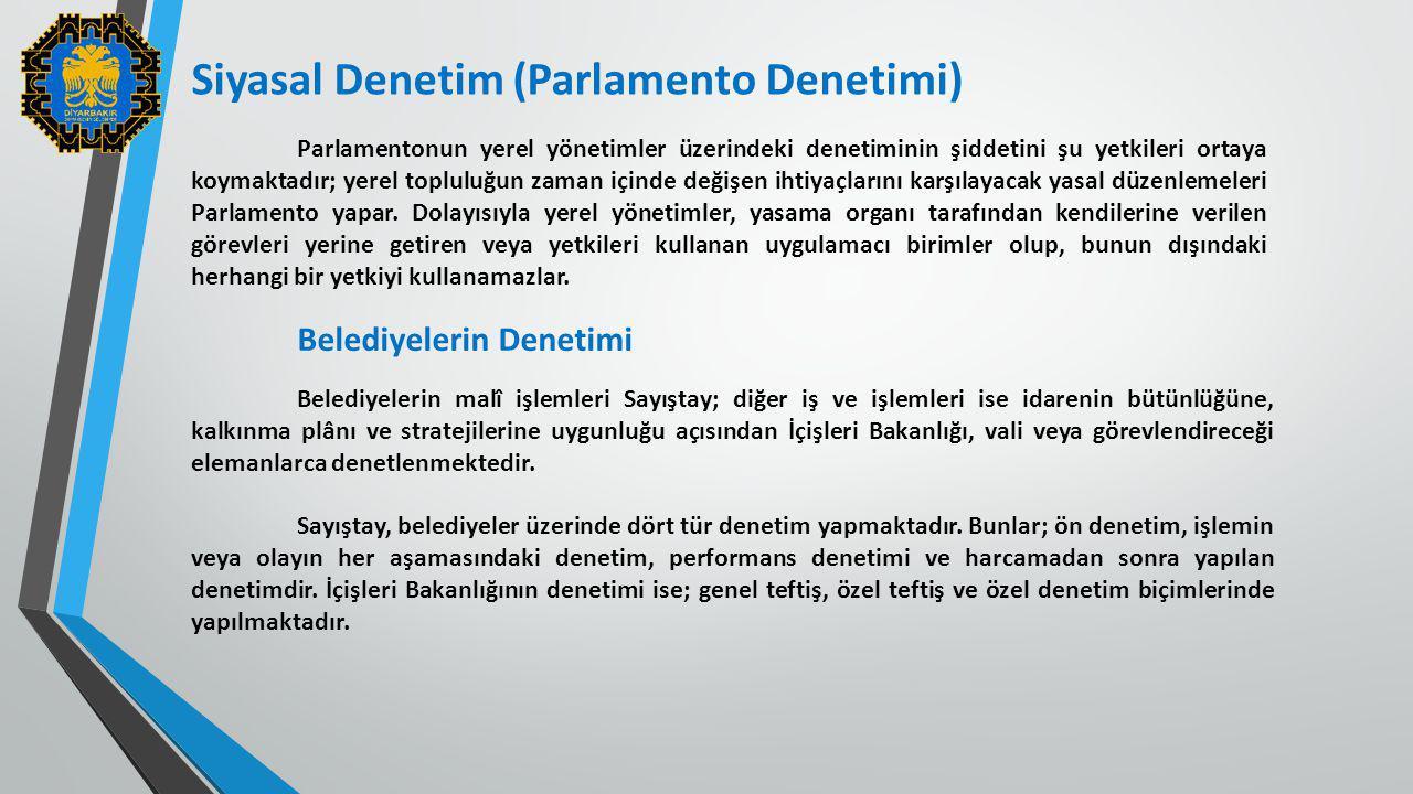 Siyasal Denetim (Parlamento Denetimi)
