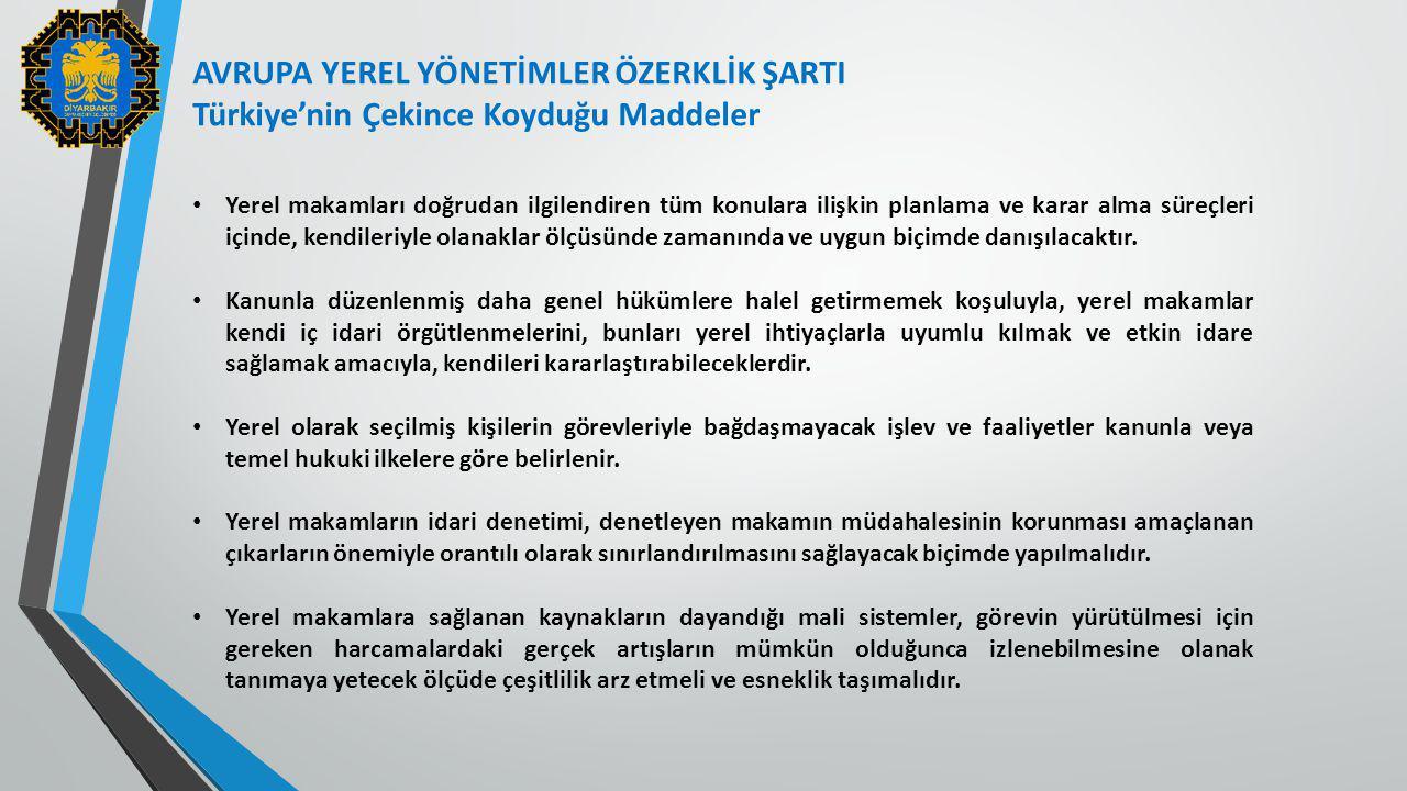 AVRUPA YEREL YÖNETİMLER ÖZERKLİK ŞARTI