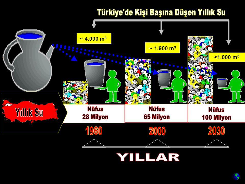 Türkiye de Kişi Başına Düşen Yıllık Su