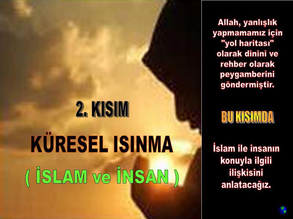 KÜRESEL ISINMA ( İSLAM ve İNSAN ) 2. KISIM BU KISIMDA Allah, yanlışlık