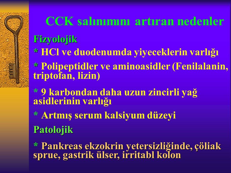 CCK salınımını artıran nedenler