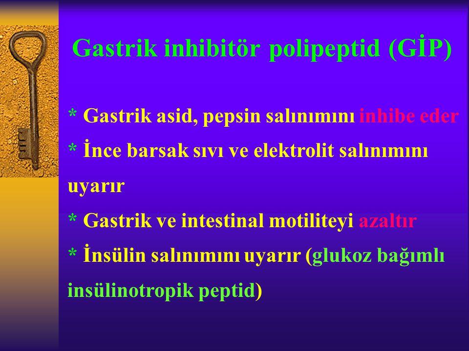 Gastrik inhibitör polipeptid (GİP)