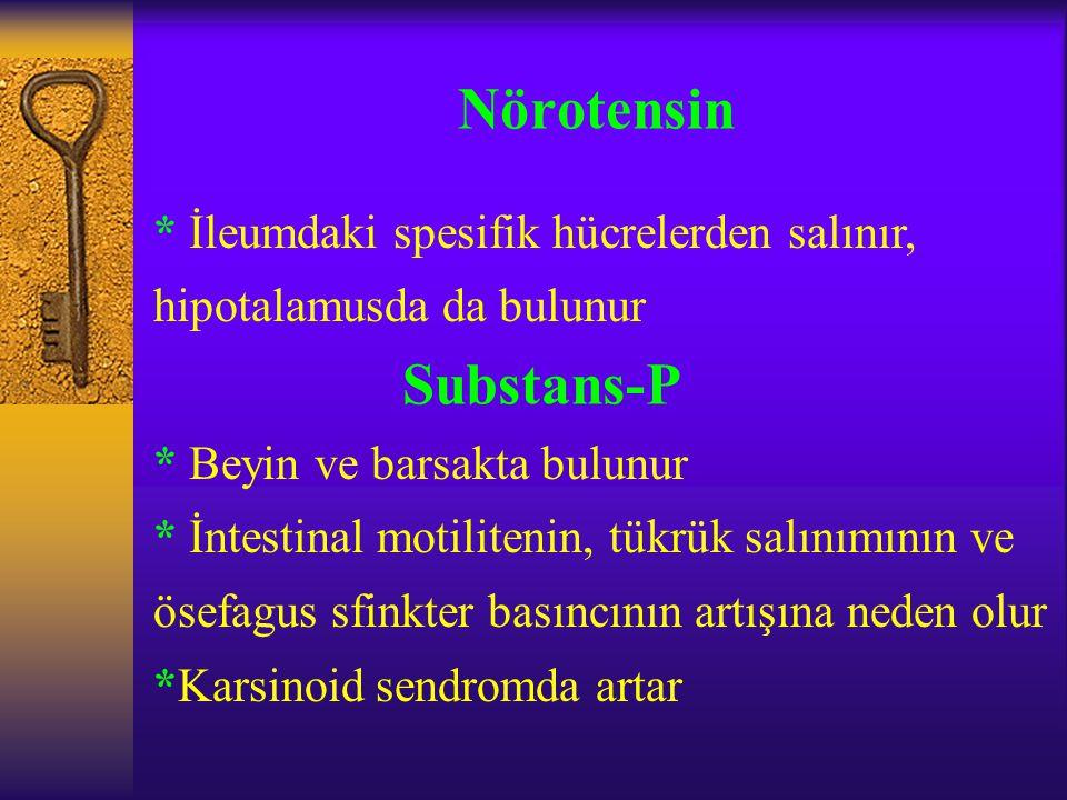 Nörotensin Substans-P