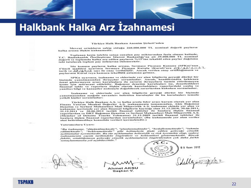 Halkbank Halka Arz İzahnamesi