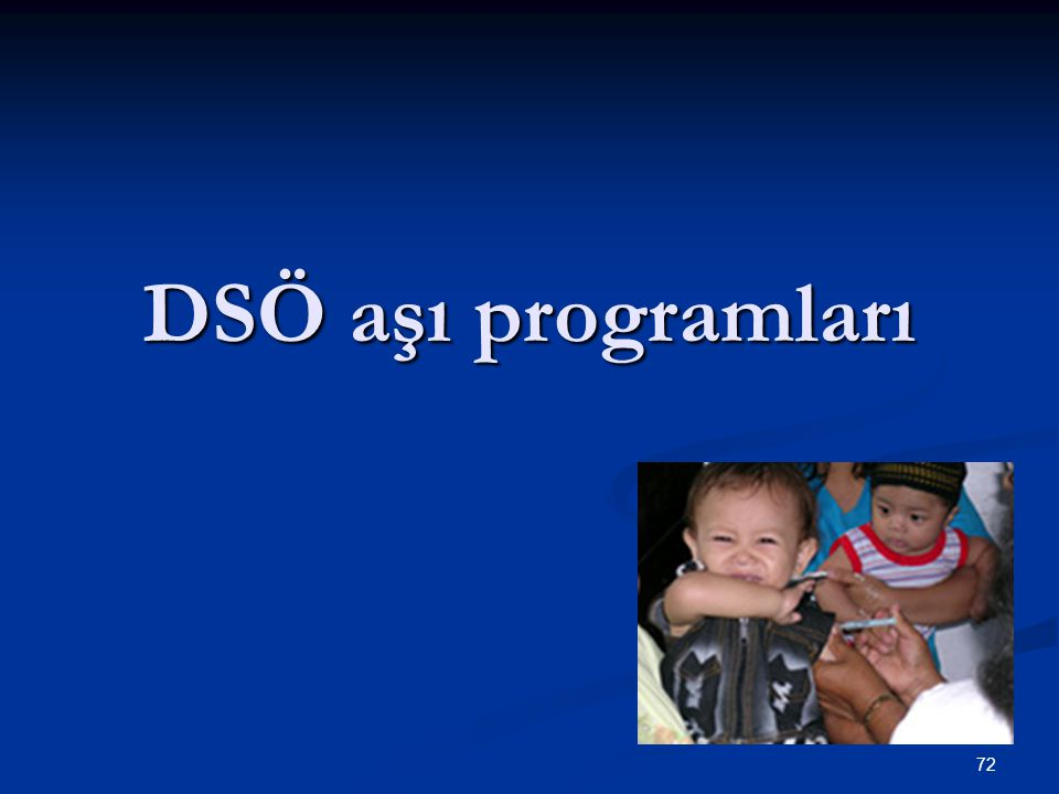DSÖ aşı programları