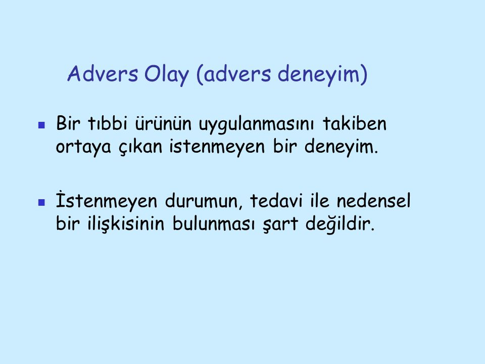 Advers Olay (advers deneyim)
