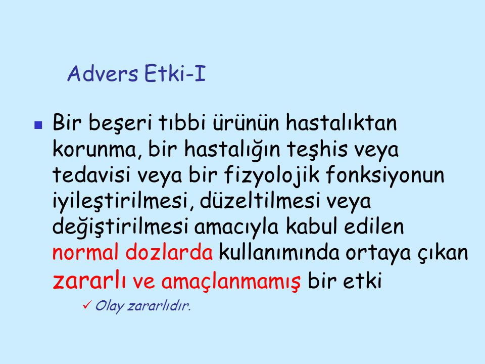 Advers Etki-I