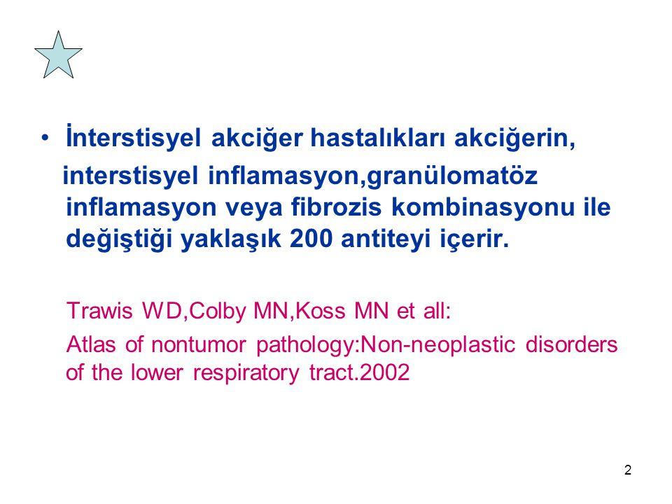 İnterstisyel akciğer hastalıkları akciğerin,