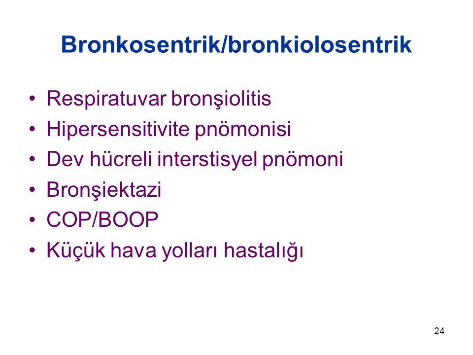 Bronkosentrik/bronkiolosentrik