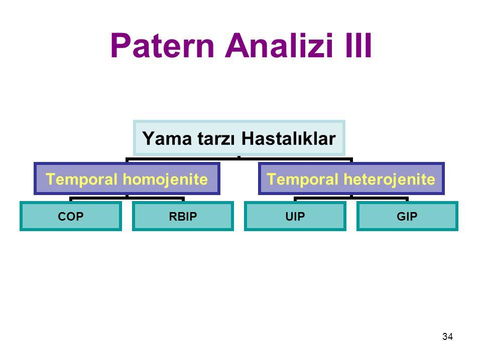 Patern Analizi III