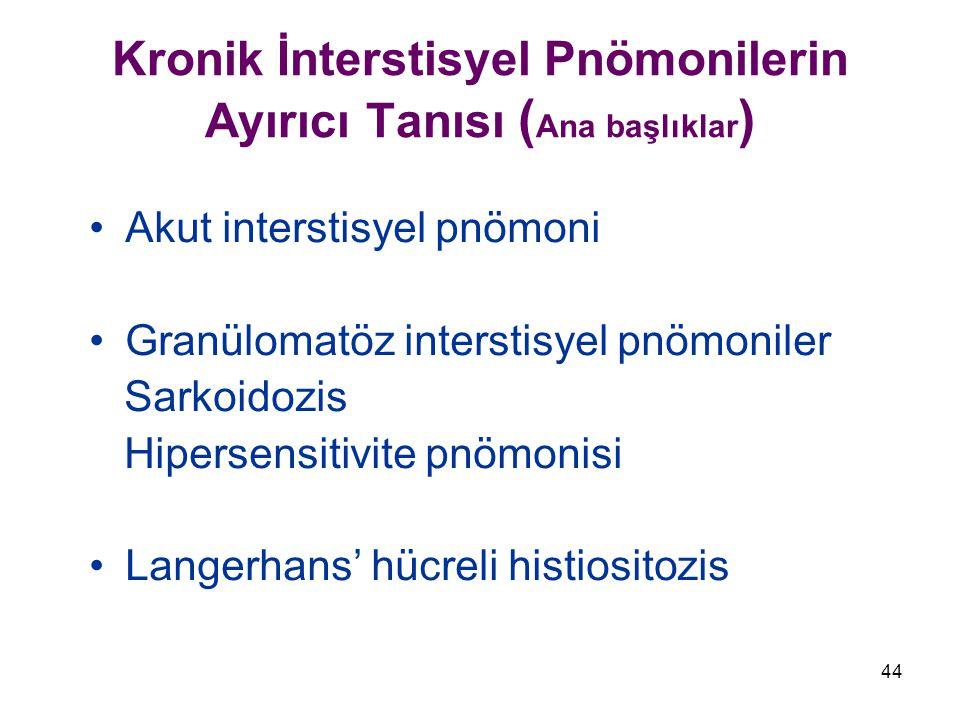 Kronik İnterstisyel Pnömonilerin Ayırıcı Tanısı (Ana başlıklar)