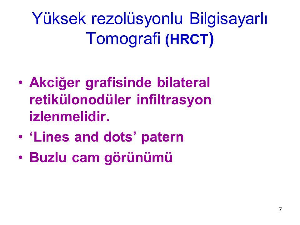 Yüksek rezolüsyonlu Bilgisayarlı Tomografi (HRCT)