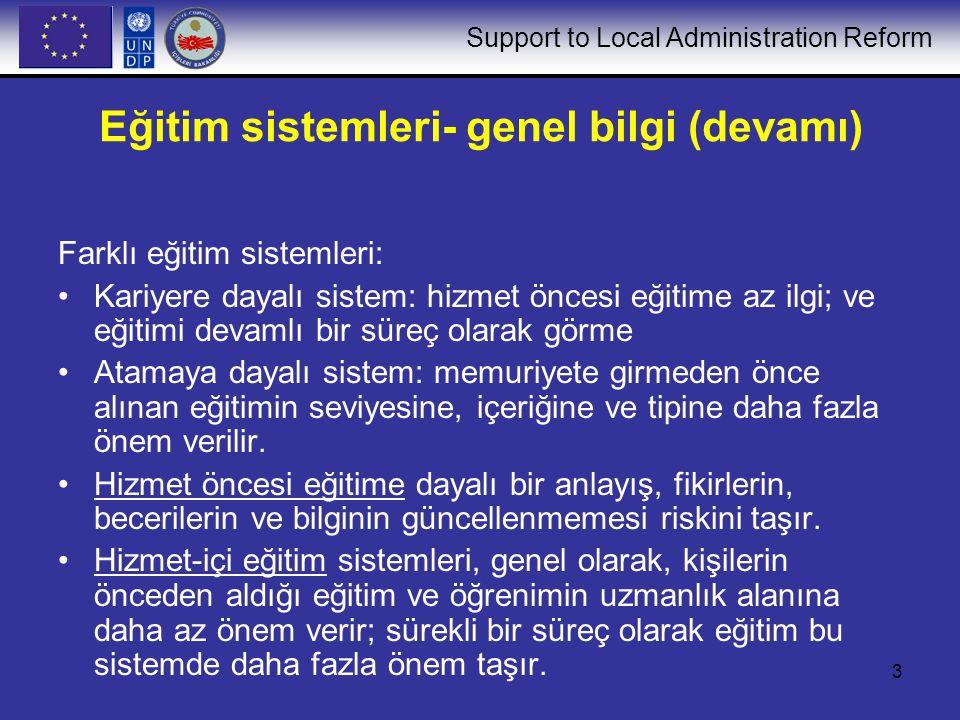 Eğitim sistemleri- genel bilgi (devamı)