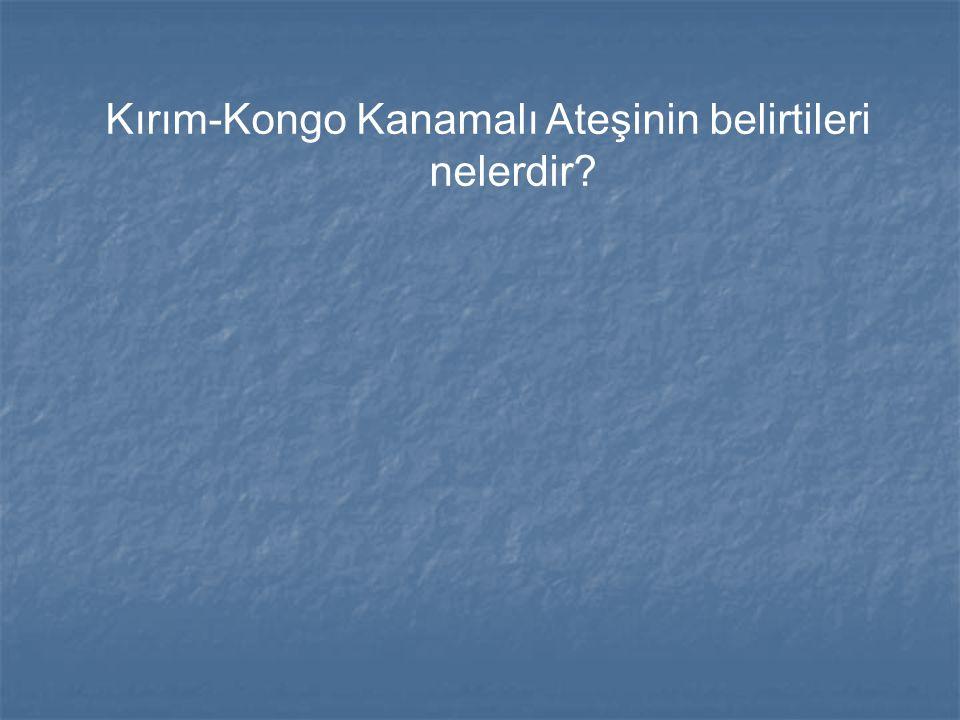Kırım-Kongo Kanamalı Ateşinin belirtileri
