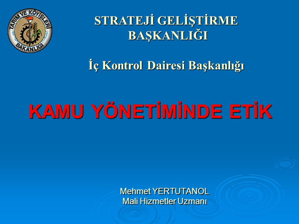 Mehmet YERTUTANOL Mali Hizmetler Uzmanı