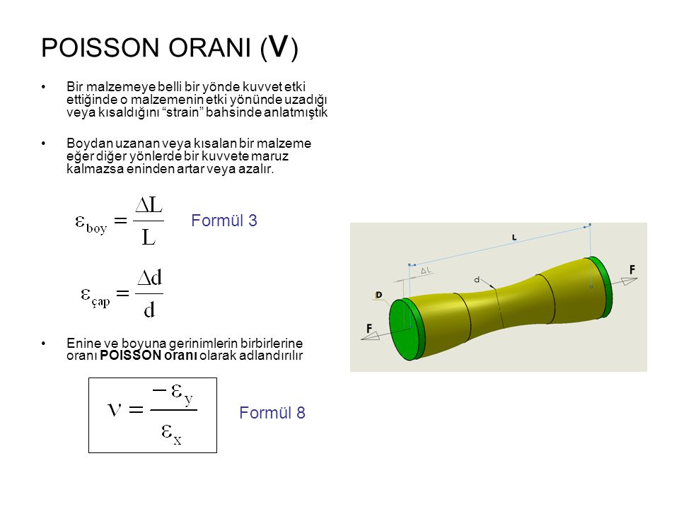 POISSON ORANI (ν) Formül 3 Formül 8