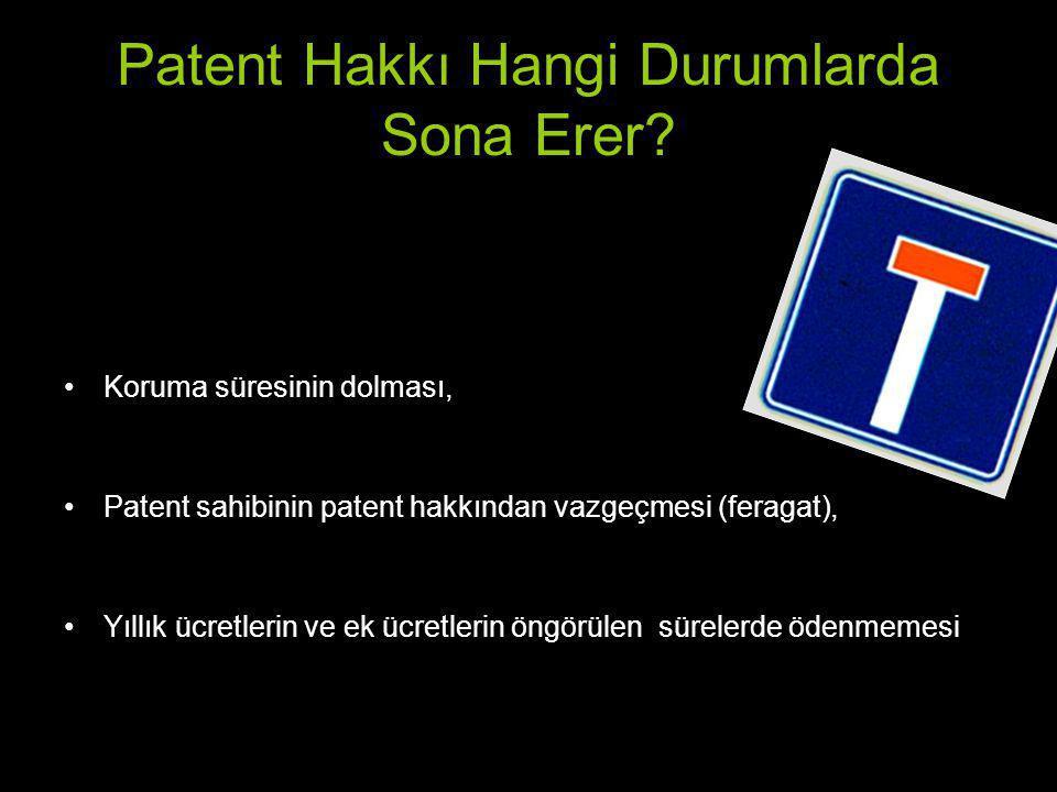 Patent Hakkı Hangi Durumlarda Sona Erer