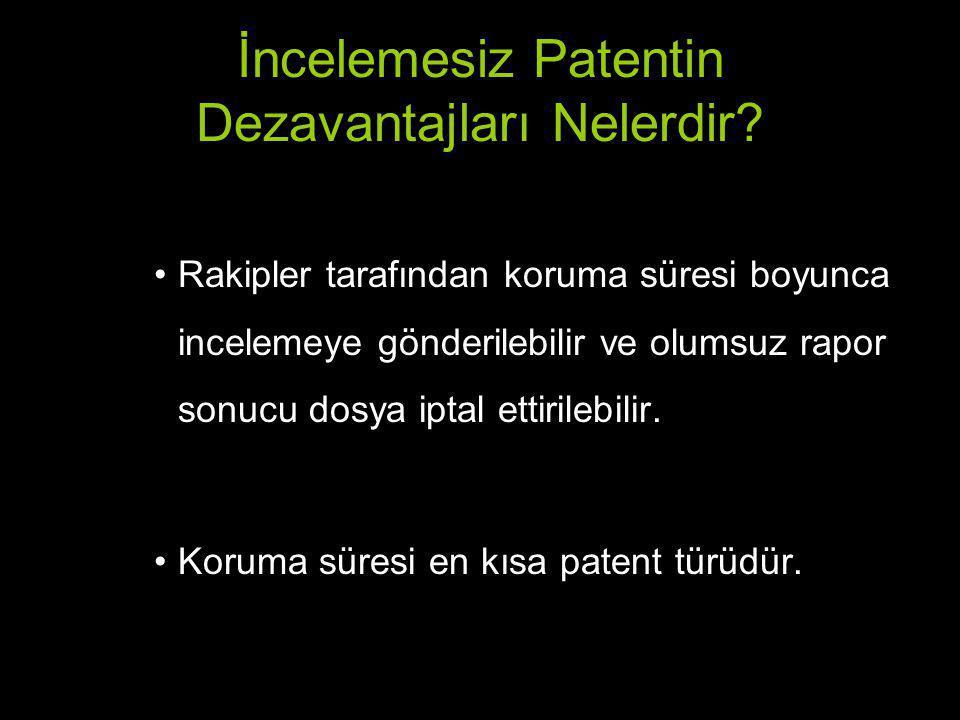 İncelemesiz Patentin Dezavantajları Nelerdir