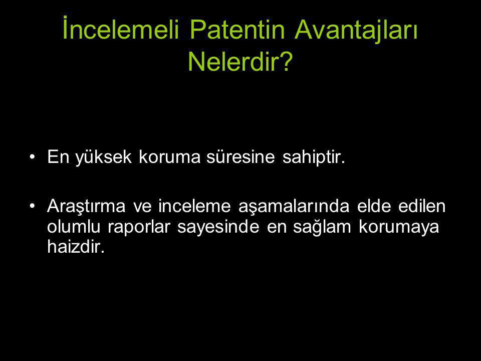 İncelemeli Patentin Avantajları Nelerdir