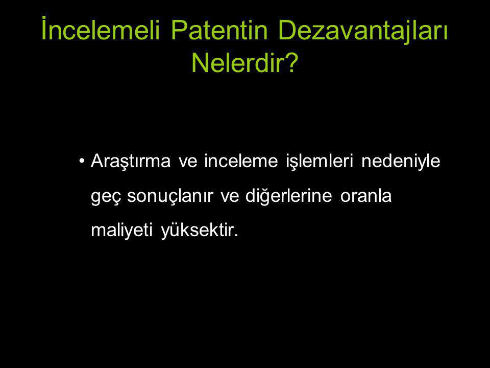 İncelemeli Patentin Dezavantajları Nelerdir