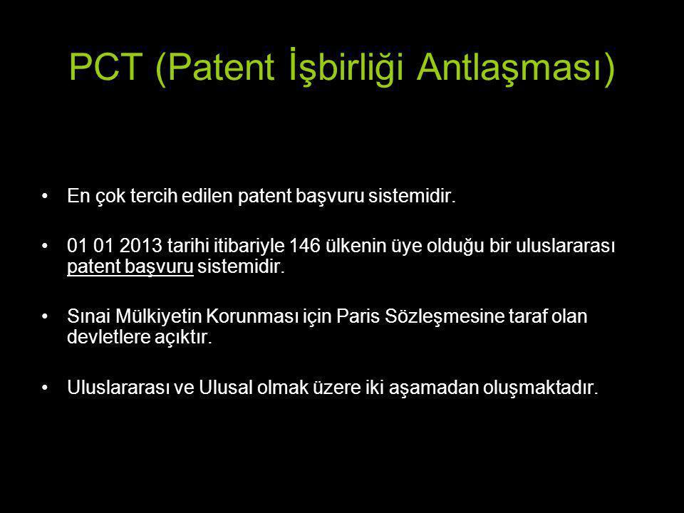 PCT (Patent İşbirliği Antlaşması)