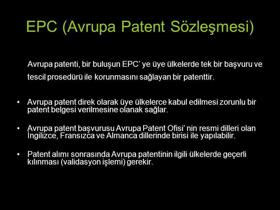 EPC (Avrupa Patent Sözleşmesi)