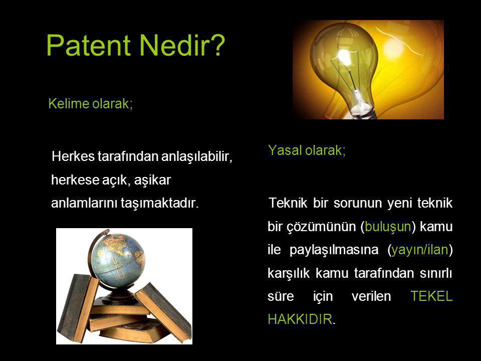 Patent Nedir Kelime olarak;
