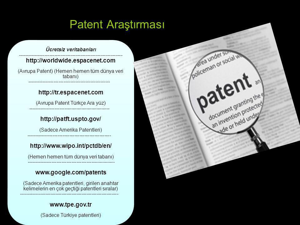 Patent Araştırması
