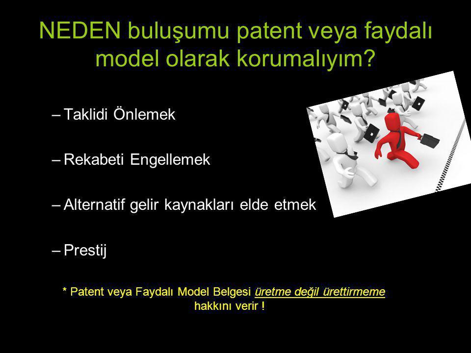 NEDEN buluşumu patent veya faydalı model olarak korumalıyım