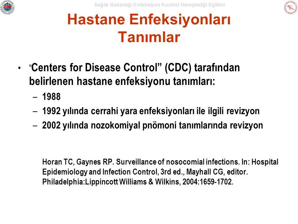 Hastane Enfeksiyonları Tanımlar