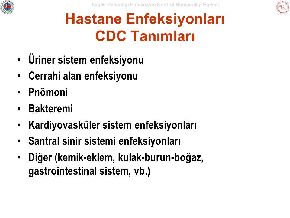 Hastane Enfeksiyonları CDC Tanımları