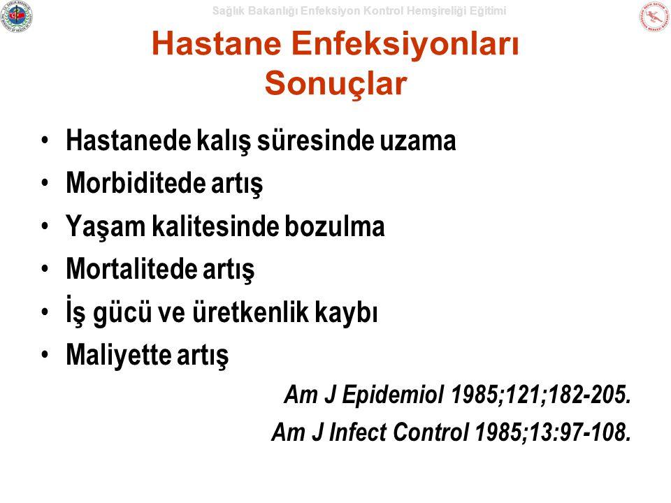 Hastane Enfeksiyonları Sonuçlar