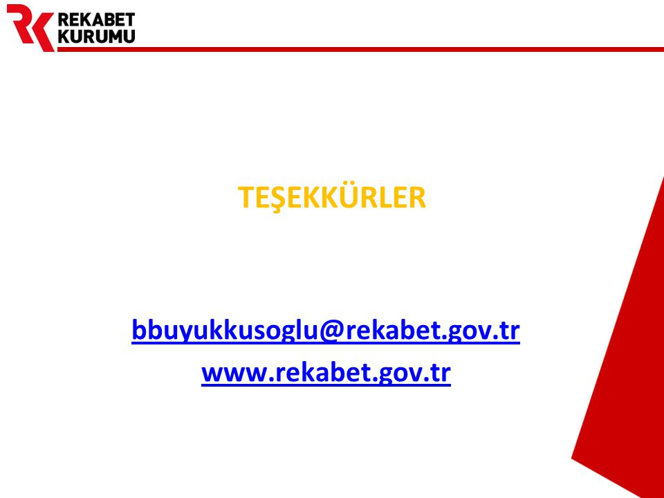 bbuyukkusoglu@rekabet.gov.tr www.rekabet.gov.tr